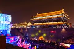 2019 Chinees nieuw jaar in Xian royalty-vrije stock afbeelding