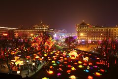 2019 Chinees nieuw jaar in Xian royalty-vrije stock foto's
