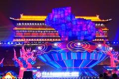 2019 Chinees nieuw jaar in Xian stock foto's