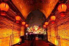 2019 Chinees nieuw jaar in Xian stock foto