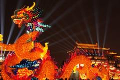 2019 Chinees nieuw jaar in Xian stock afbeelding