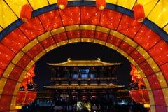 2019 Chinees nieuw jaar in Xian stock afbeeldingen