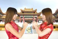 Chinees nieuw jaarmeisje Royalty-vrije Stock Fotografie