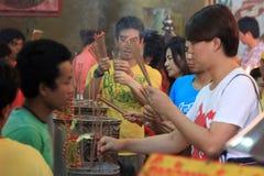 Chinees Nieuwjaar 2012 - Bangkok, Thailand Stock Foto