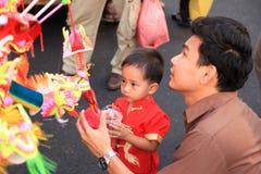 Chinees Nieuwjaar 2012 - Bangkok, Thailand Stock Foto's