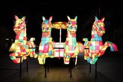 Chinees Nieuwjaar - het Paard Royalty-vrije Stock Afbeeldingen