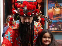 Chinees Nieuwjaar, Londen Royalty-vrije Stock Foto
