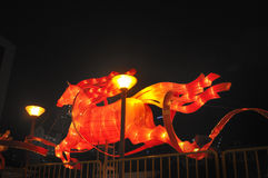 Chinees Nieuwjaar met paard-als thema gehade decoratie Royalty-vrije Stock Afbeelding