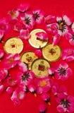 Chinees Nieuwjaar - Ornamenten II van de Muntstukken van de Keizer Stock Afbeelding