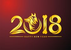 Chinees Nieuwjaar van de hond 2018 tekst royalty-vrije illustratie