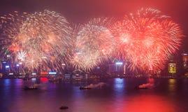 2015 Chinees Nieuwjaarvuurwerk Stock Foto
