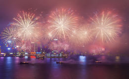 2015 Chinees Nieuwjaarvuurwerk Stock Foto's