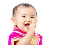 Chinees opgewekt babymeisje stock foto