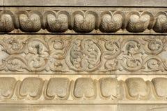 Chinees oud de bouw verfraaid patroon Stock Afbeeldingen