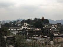 Chinees oud dorp stock afbeeldingen