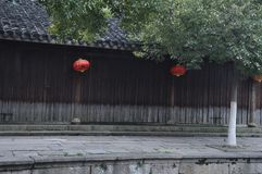 Chinees oud huis stock foto's