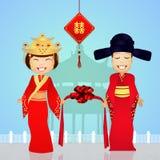 Chinees paar royalty-vrije illustratie