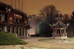 Chinees paviljoen stock afbeeldingen