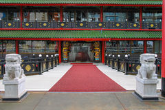 Chinees restaurant Overzees Paleis op de waterkant in Amsterdam Stock Foto's