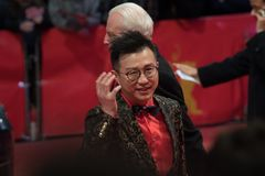 Chinees Richard Shen tijdens Berlinale 2018 Stock Foto's