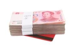 Chinees rmb en bankboekje Stock Foto's