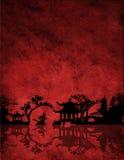Chinees Rood Landschap Royalty-vrije Stock Foto's