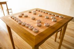 Chinees schaak royalty-vrije stock afbeeldingen
