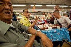 Chinees schaak in Chinatown Bangkok. Royalty-vrije Stock Fotografie