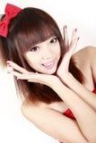 Chinees schoonheidsportret. Royalty-vrije Stock Afbeeldingen