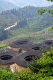 Chinees Southen-Aardekasteel in platteland van Zuid-China Royalty-vrije Stock Foto's