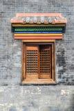 Chinees stijl houten venster stock foto