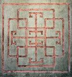Chinees stijl snijdend patroon op oude muur Royalty-vrije Stock Foto