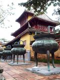 Chinees stijlontwerp van het historische oude Vietnamese keizer VERBODEN PALEIS Royalty-vrije Stock Afbeeldingen