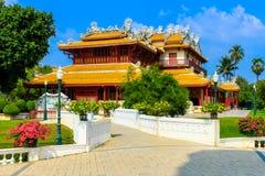 Chinees stijlpaleis van Wehart Chamrunt in het paleis van de Klappijn, Ay Royalty-vrije Stock Foto