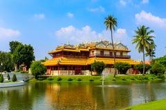 Chinees stijlpaleis van Wehart Chamrunt in het paleis van de Klappijn, Ay Stock Foto's
