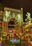 Chinees Theater Los Angeles bij Nacht stock foto