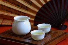 Chinees thee en theestel Royalty-vrije Stock Afbeelding