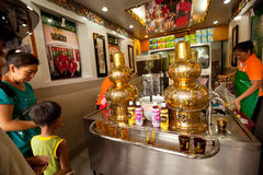 Chinees theehuis in Chinatown Bangkok. Royalty-vrije Stock Fotografie
