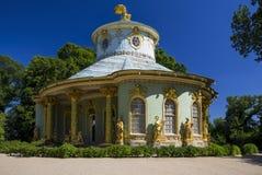 Chinees theehuis van 18de eeuw, een deel van Sanssouci-park Stock Fotografie