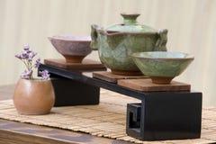 Chinees Theestel stock afbeeldingen