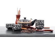 Chinees theestel voor theeceremonie Stock Foto's