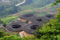 Chinees traditioneel Aardekasteel in platteland van Zuid-China Royalty-vrije Stock Afbeelding