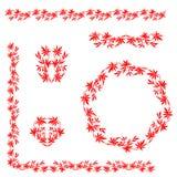 Chinees traditioneel bloemenornament Royalty-vrije Stock Afbeeldingen