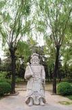 Chinees traditioneel militair beeldhouwwerk Royalty-vrije Stock Foto