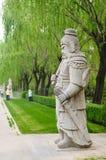 Chinees traditioneel militair beeldhouwwerk Stock Afbeeldingen