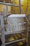 Chinees traditioneel shuttleless weefgetouw royalty-vrije stock afbeelding