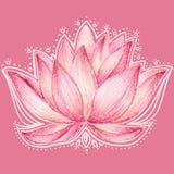 Chinees van de de bloemtekening van de stijllotusbloem de kaartontwerp Stock Fotografie