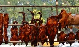 Chinees van de de Vertoningschinatown van het Restaurantvenster Authentiek de Stadsvoedsel van New York royalty-vrije stock foto's