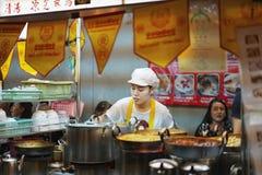 Chinees Vegetarisch Voedselfestival in Yaowarat royalty-vrije stock foto