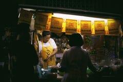 Chinees Vegetarisch Voedselfestival in Yaowarat stock foto